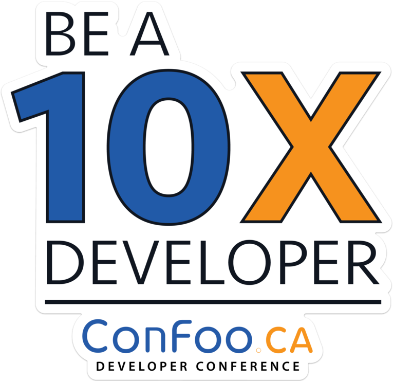 ConFoo: Be a 10X developer wall graphics