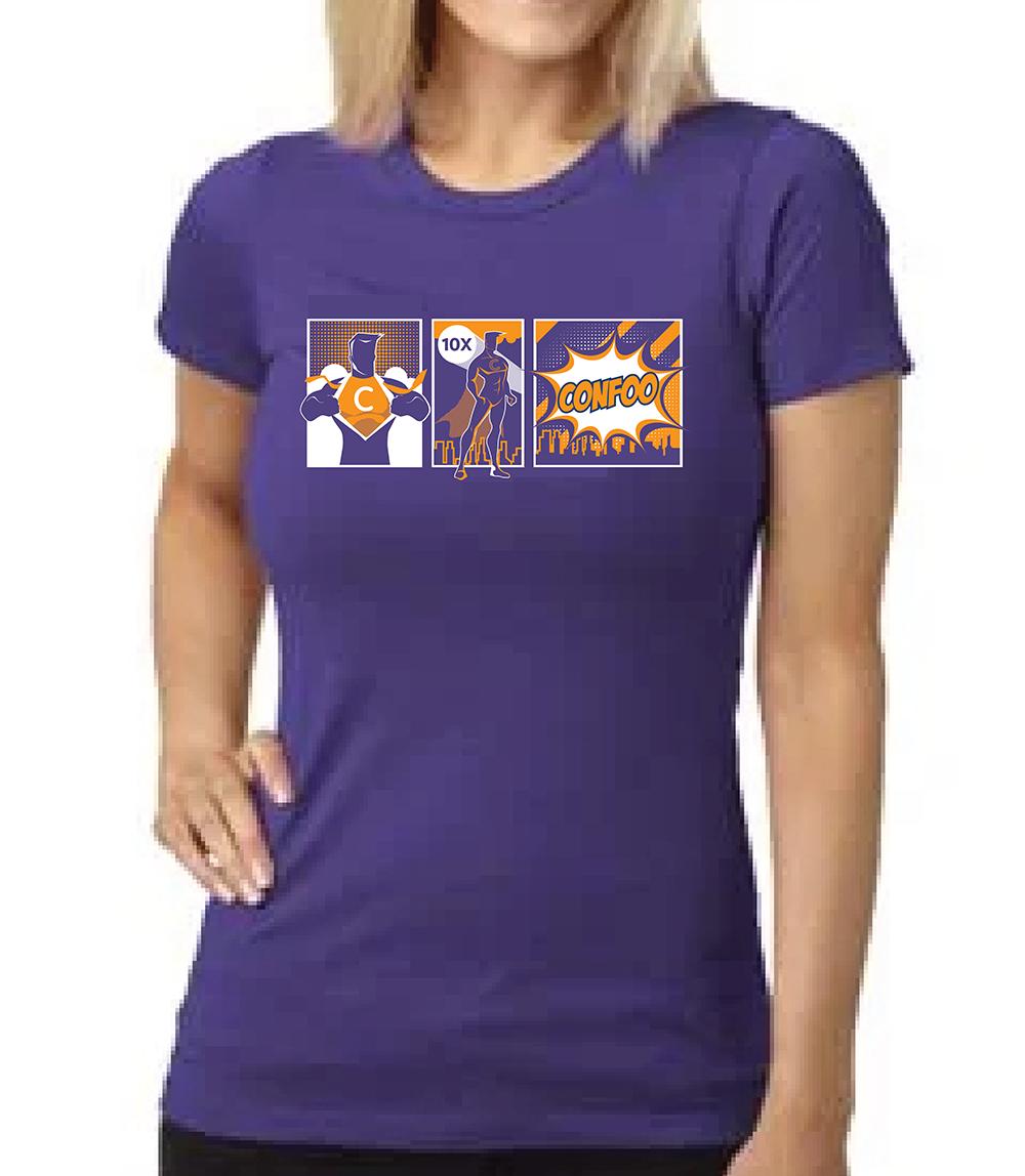 I am a FullStack SuperHero T-Shirt Woman